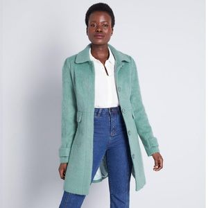 Modcloth Mint Green Pea Coat